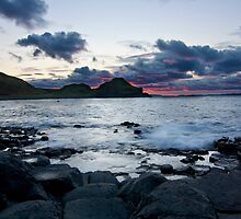Fire in the Sky - Giants Causeway Northern Ireland by PMcGivern