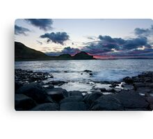 Fire in the Sky - Giants Causeway Northern Ireland Canvas Print