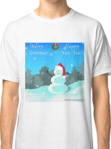 Christmas Snowman Classic T-Shirt