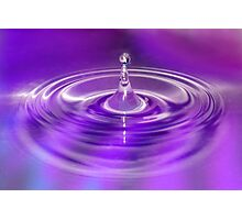 Purple Water Drop Photographic Print