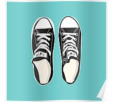 All You Need is Chucks - Turquoise Poster