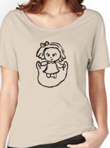 Jump rope girl black and white Women's Relaxed Fit T-Shirt