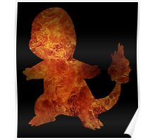 Charmander on fire Poster