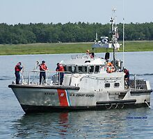 Coast Guard at work by Linda Jackson