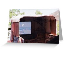 50s horse trailer Greeting Card