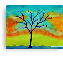 The last leaf, watercolor Canvas Print