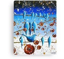 Bluebirds on a Wire Original Modern Art Canvas Print