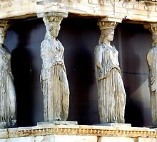 Caryatids of the Erechtheion by HELUA
