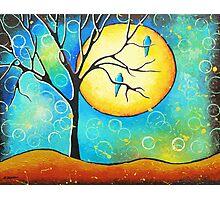 Blue Lovebirds Whimsical Art Photographic Print