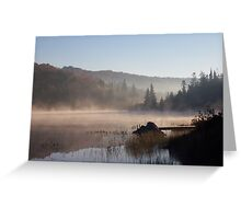 Early Morning Mist - Muskoka Greeting Card