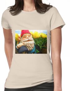 Yellow and Sky Gerome Womens Fitted T-Shirt