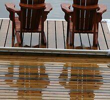 Muskoka Chairs Reflection - Lake Muskoka by Carolyn  Reinhart