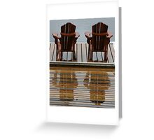 Muskoka Chairs Reflection - Lake Muskoka Greeting Card