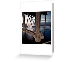 orangre orb - rust and reflection Greeting Card
