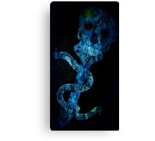 black/blue sugar skull 2 Canvas Print