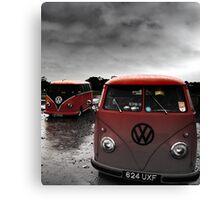 VW Show N Shine Split Screens Canvas Print