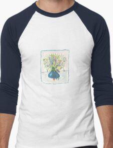 Blue Drop Vase Tee Men's Baseball ¾ T-Shirt