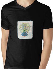 Blue Drop Vase Tee Mens V-Neck T-Shirt
