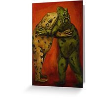 Frog Dancers Greeting Card