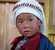 himalayan girl. nepal by tim buckley | bodhiimages