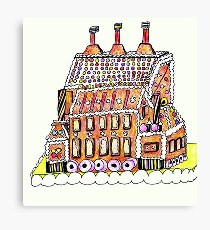 Gingerbread Factory Canvas Print