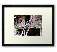 home. himalayan mountains, nepal Framed Print