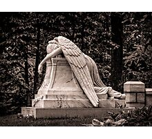 Weeping Angel - sepia Photographic Print