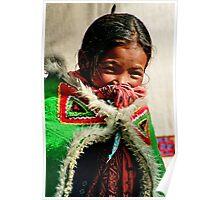 himalayan girl. northern india Poster