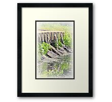 Spouted Cement Framed Print