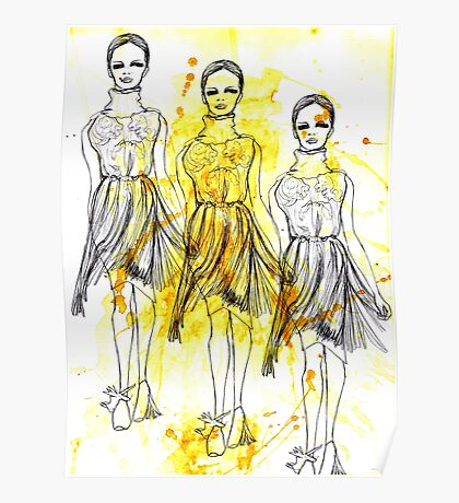 Fashion Triptych Poster