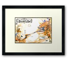 """Journey to the Absolute Edge"", from the Metaphysical Maps series Framed Print"