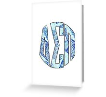 Delta Sigma Pi Circle Lilly Greeting Card
