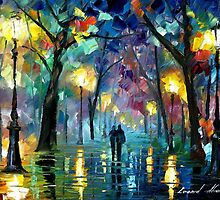 Dreams Fog  - original oil painting on canvas by Leonid Afremov by Leonid  Afremov