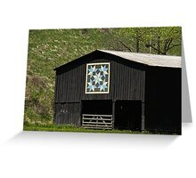 Kentucky Barn Quilt - Snow Crystals Greeting Card