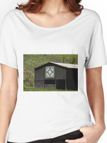 Kentucky Barn Quilt - Snow Crystals Women's Relaxed Fit T-Shirt