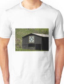 Kentucky Barn Quilt - Snow Crystals Unisex T-Shirt