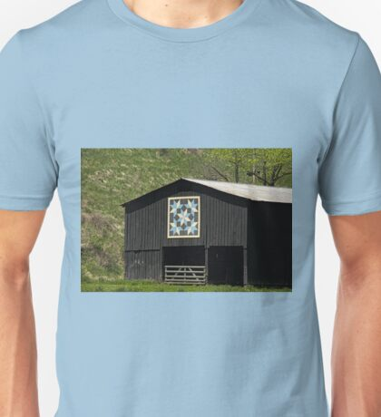 Kentucky Barn Quilt - Snow Crystals Unisex T-Shirt
