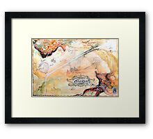 The Veil'd Realm of Sex, from the Metaphysical Maps series Framed Print