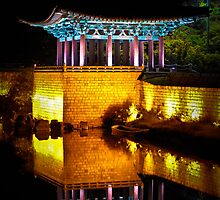 Anapji Pond, South Korea by Charles Russell