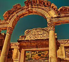 Turkey. Ancient Ephesus. Ruins of Temple of Hadrian. by vadim19