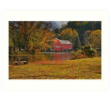Red Mill October Morning 2 Art Print