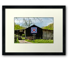 Kentucky Barn Quilt - Carpenters Wheel Framed Print