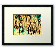 tree spirits..... forest snow Framed Print