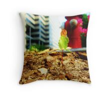 Lonely Plant in the Street Throw Pillow