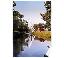 Lift bridge, Llangollen Canal,  UK. Poster