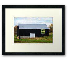 FC Barn Quilt 1 Framed Print