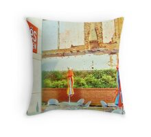 Zoe's Kitchen Restaurant Feature Throw Pillow