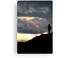 Sunset Atop the Volcano Canvas Print