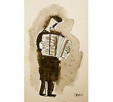 accordian player Photographic Print