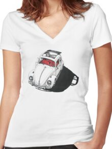 VW shadow w/ RED interior Women's Fitted V-Neck T-Shirt
